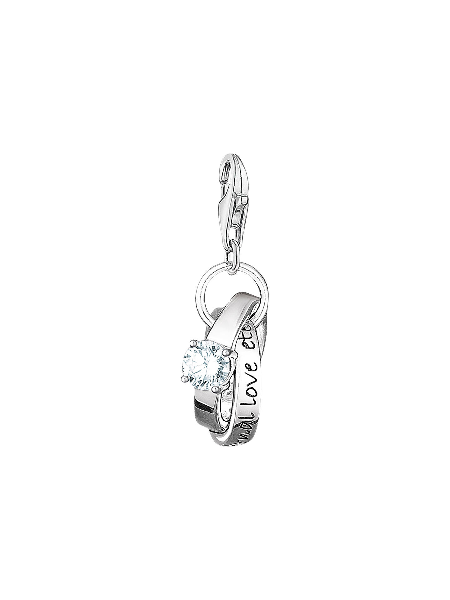 Thomas Sabo Charm Club Wedding Rings Silver Online At Johnlewis