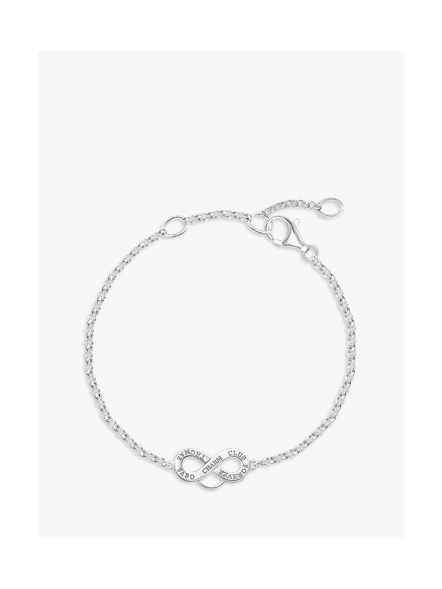 Thomas Sabo Charm Club Infinity Symbol Bracelet Silver At John