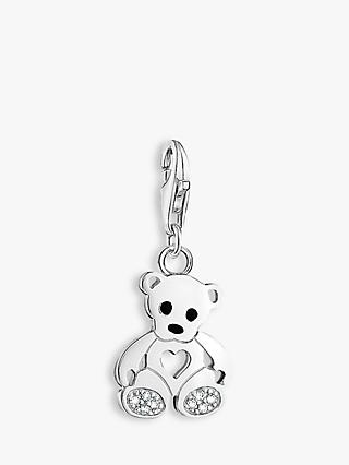 THOMAS SABO Charm Club Teddy Bear Charm, Silver