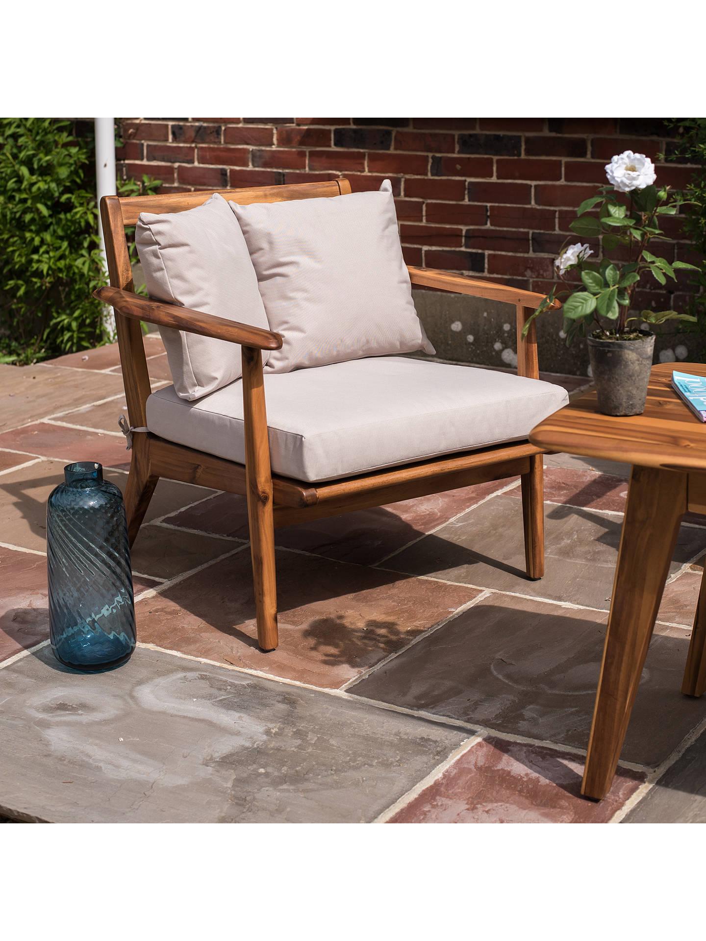 John Lewis Fyn Lounging Garden Armchair, FSC-certified (Acacia) at ...
