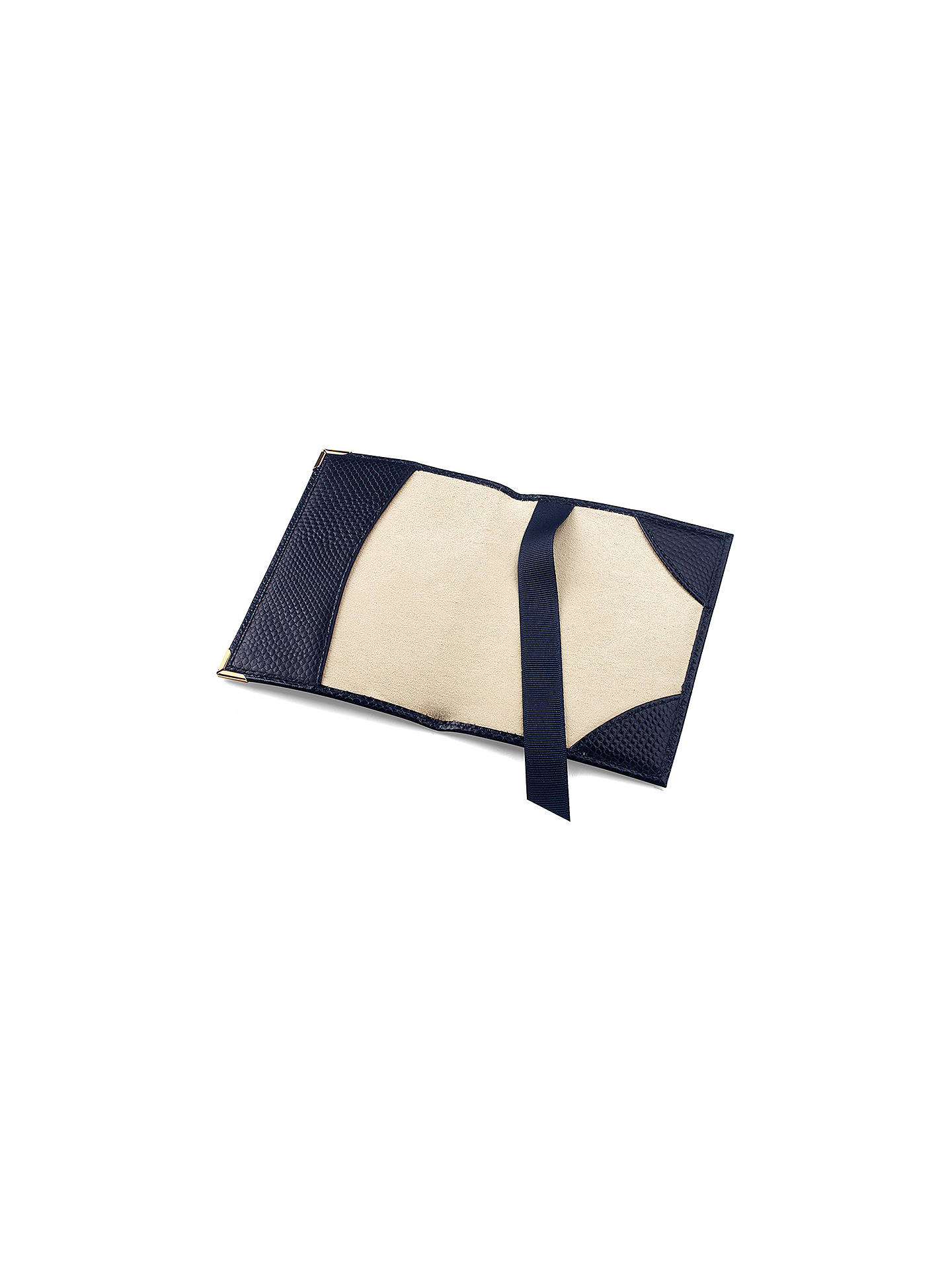 Buy Aspinal of London Leather Passport Cover, Midnight Blue Online at johnlewis.com