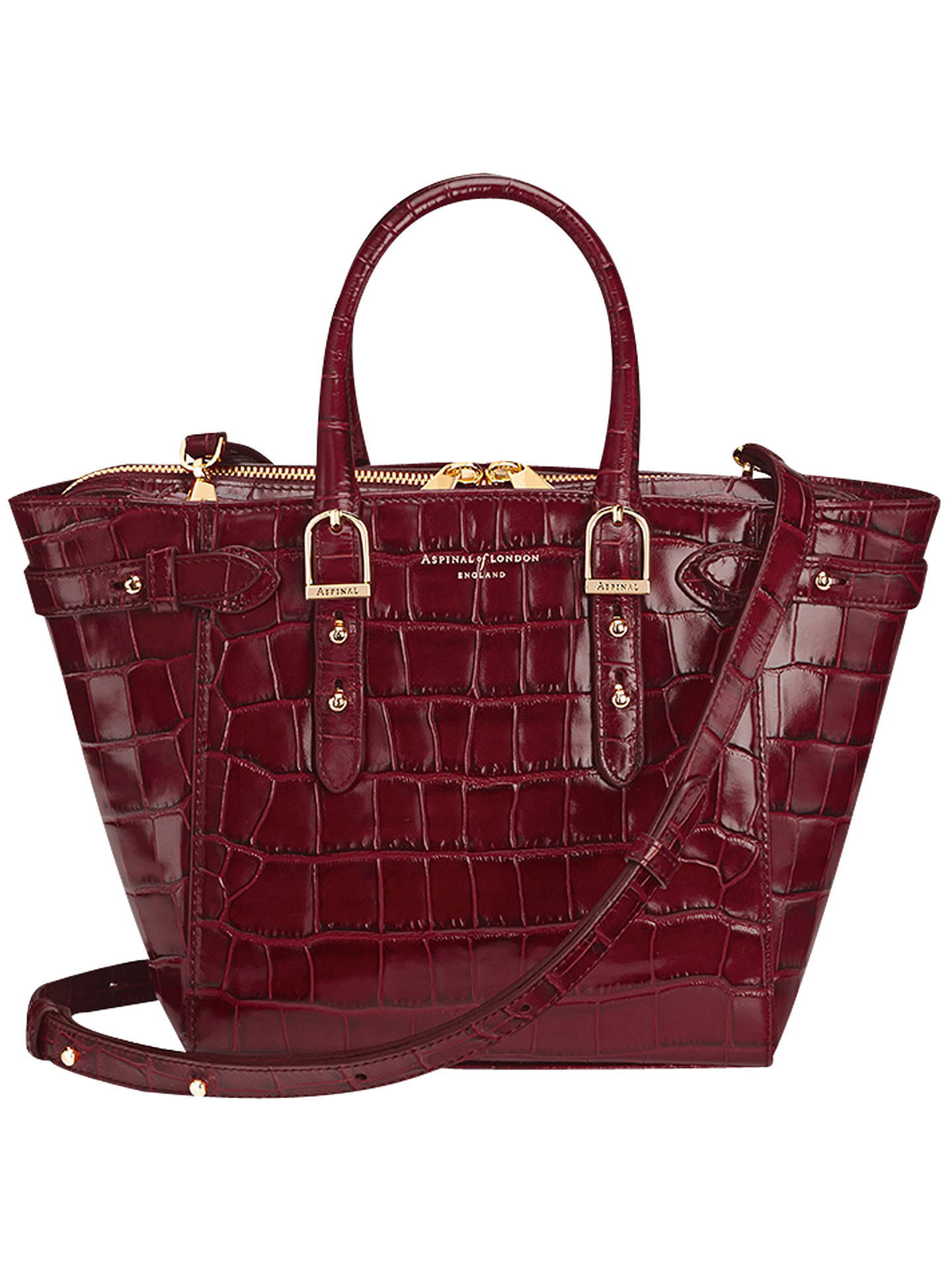 b9ceae15346dd Aspinal of London Marylebone Mini Leather Tote Bag at John Lewis ...