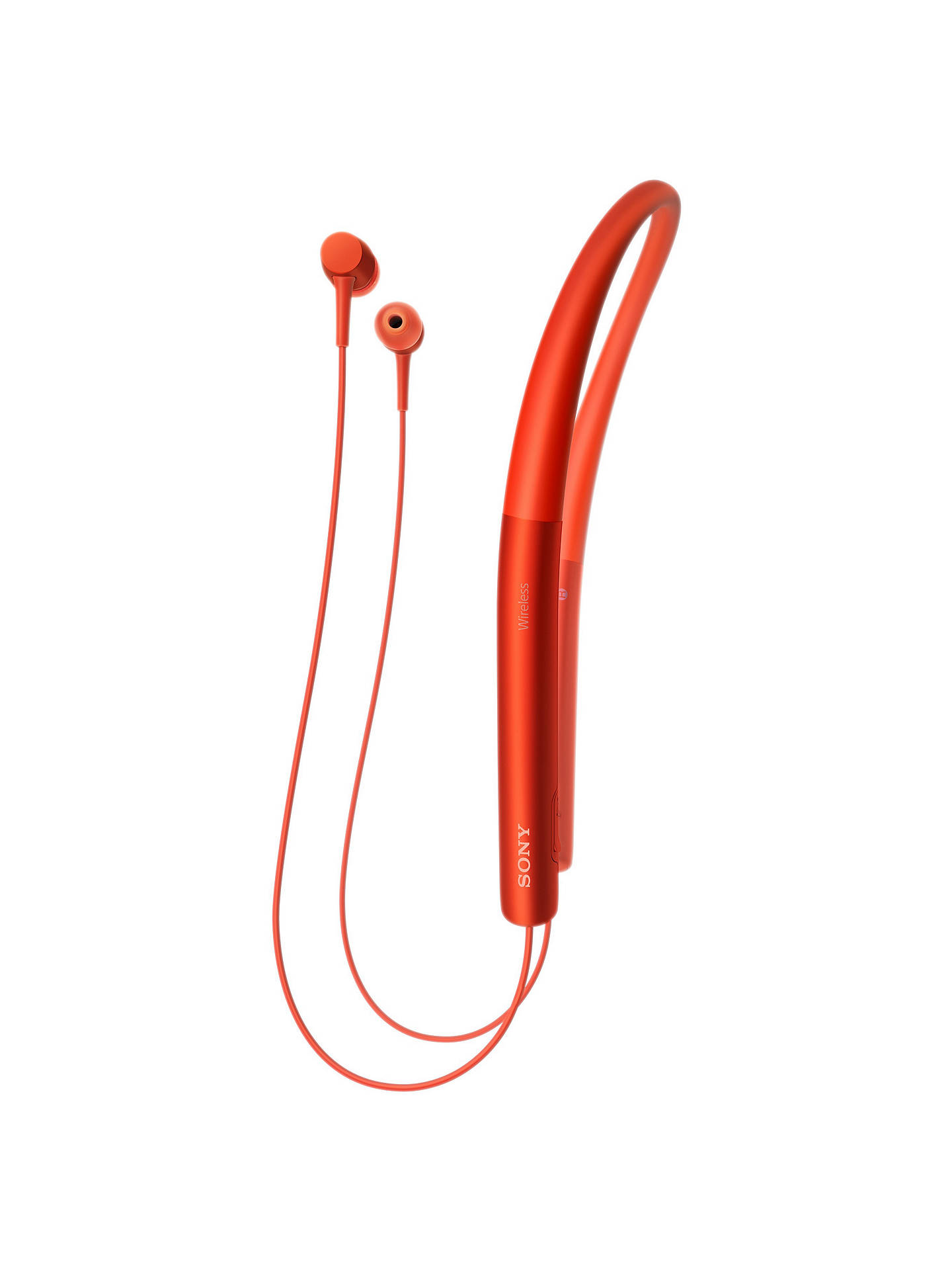 BuySony MDR-EX750BT h.ear in Wireless Bluetooth High Resolution In-Ear Headphones with NFC One-Touch, Cinnabar Red Online at johnlewis.com