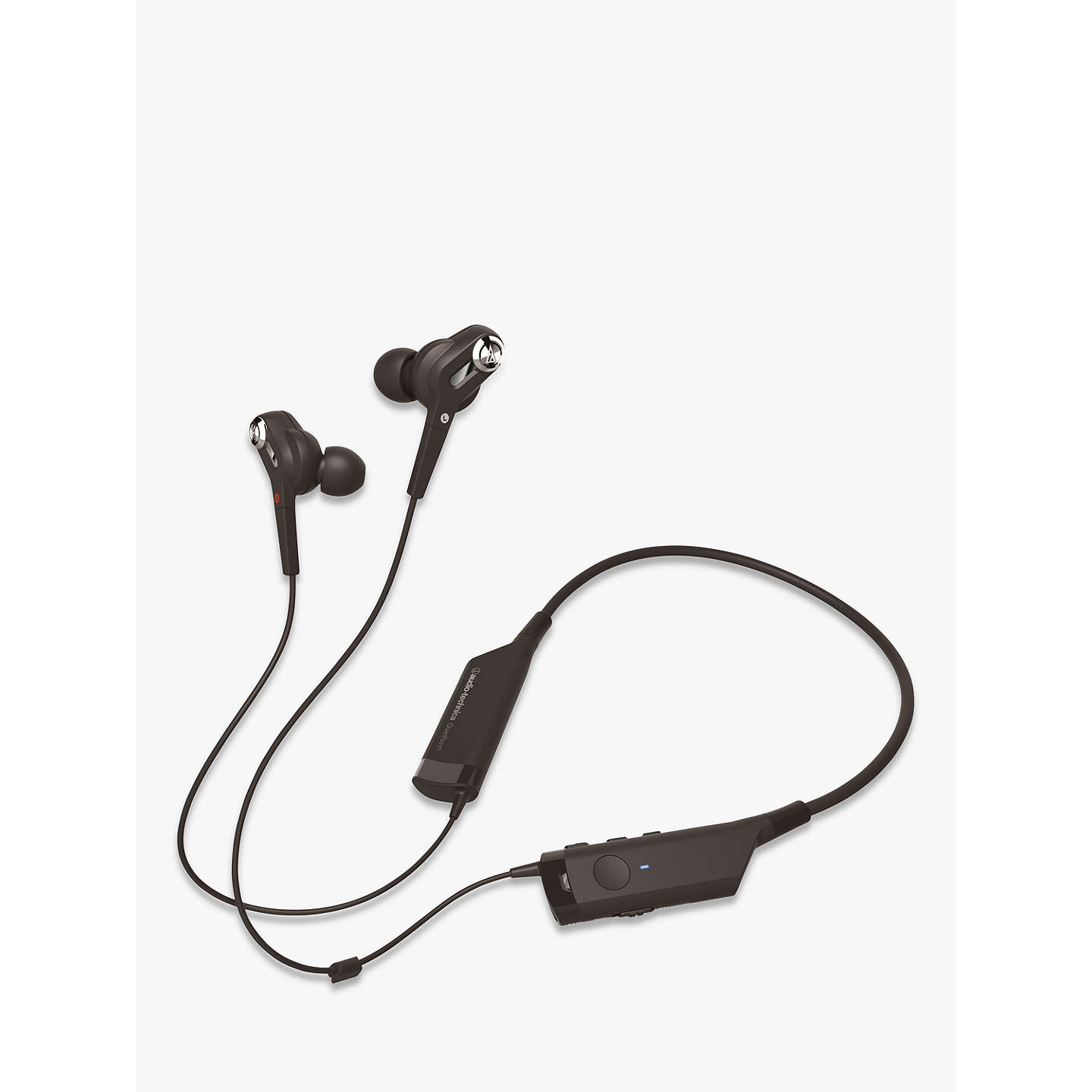 BuyAudio-Technica ATH-ANC40BT QuietPoint Bluetooth Active Noise-Cancelling In-Ear Headphones With Protective Pouch Online at johnlewis.com