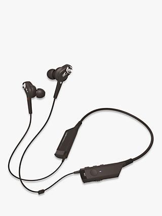 Audio-Technica ATH-ANC40BT QuietPoint Bluetooth Active Noise-Cancelling In-Ear Headphones With Protective Pouch