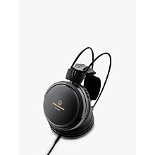 Buy Audio-Technica ATH-A550Z Art Monitor Closed-Back Dynamic Over-Ear Headphones, Black Online at johnlewis.com