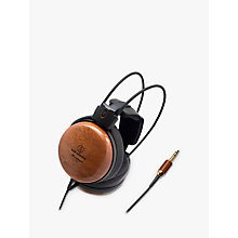 Buy Audio-Technica ATH-W1000Z Audiophile Closed-Back Over-Ear Headphones, Teak Online at johnlewis.com