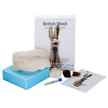 Buy Craftwerk British Wool Little Grey Rabbit Needle Felting Kit Online at johnlewis.com