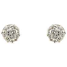 Buy Cachet Swarovski Crystal Pave Ball Stud Earrings, Silver Online at johnlewis.com