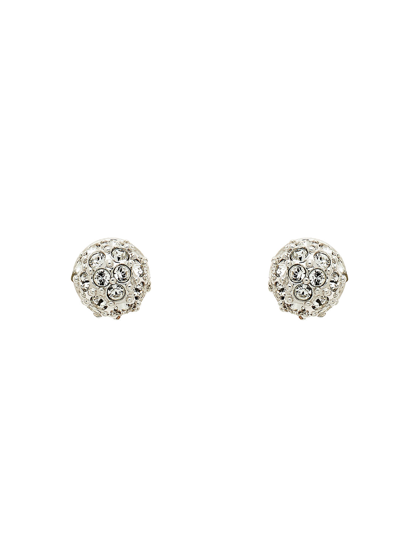 Cachet Swarovski Crystal Pave Ball Stud Earrings Silver Online At Johnlewis