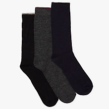 Buy John Lewis Thermal Wool Socks, Pack of 3, One Size, Navy/Grey/Black Online at johnlewis.com