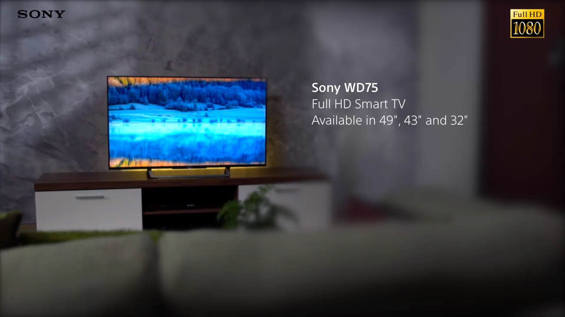 Sony Bravia 32WD756BU LED HD 1080p Smart TV, 32