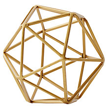 Buy west elm Brass Octahedron, Small Online at johnlewis.com