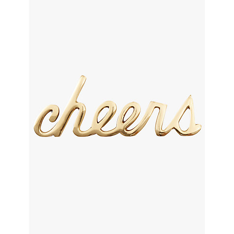 Buy west elm Brass Cheers Object Online at johnlewis.com