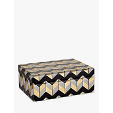 Buy John Lewis Hotel Tessellation Jewellery Box, Gold/Black Online at johnlewis.com