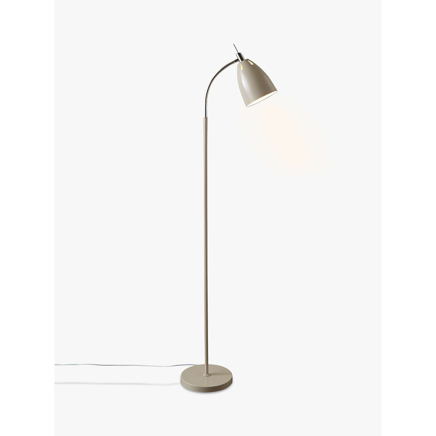 John lewis neil led floor lamp taupe at john lewis buyjohn lewis neil led floor lamp taupe online at johnlewis mozeypictures Choice Image