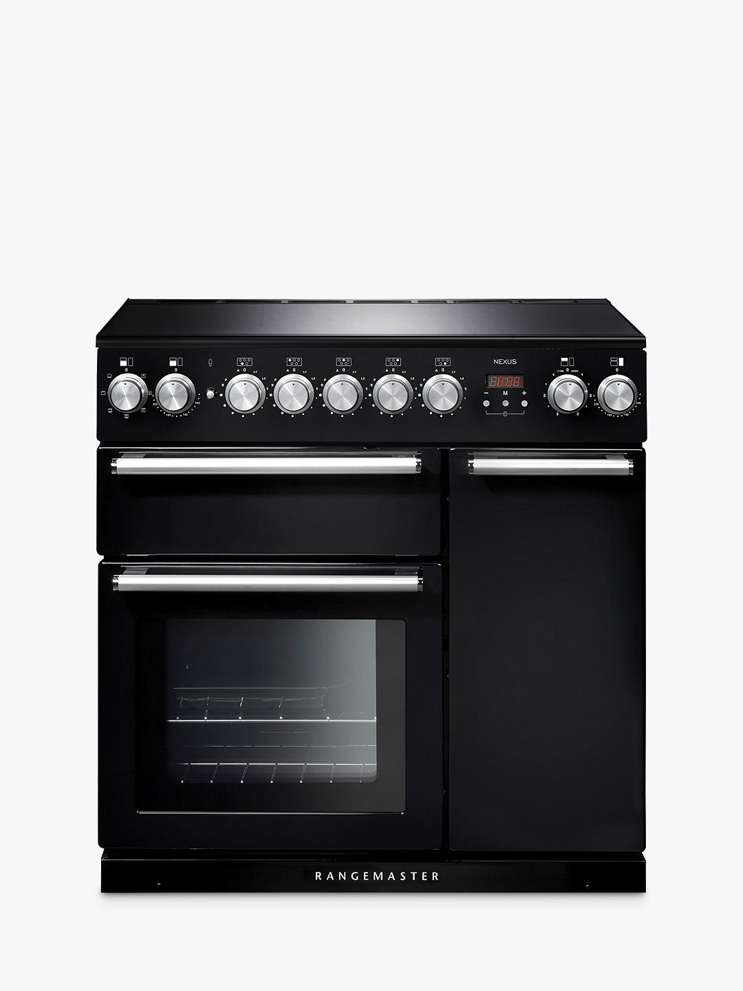 Buy Rangemaster Nexus 90 Induction Range Cooker, Gloss Black/Chrome Trim Online at johnlewis.com