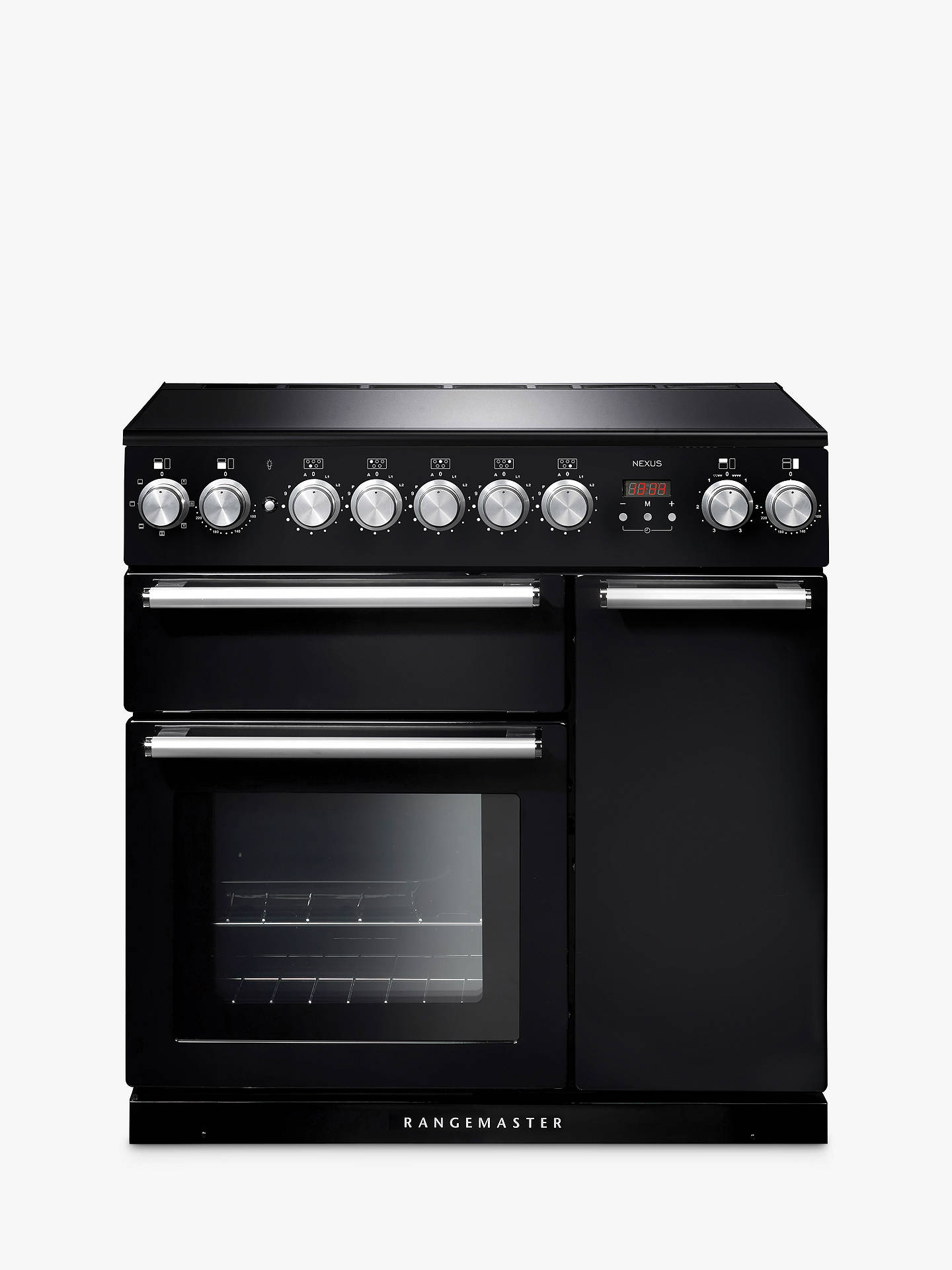 BuyRangemaster Nexus 90 Induction Range Cooker, Gloss Black/Chrome Trim Online at johnlewis.com