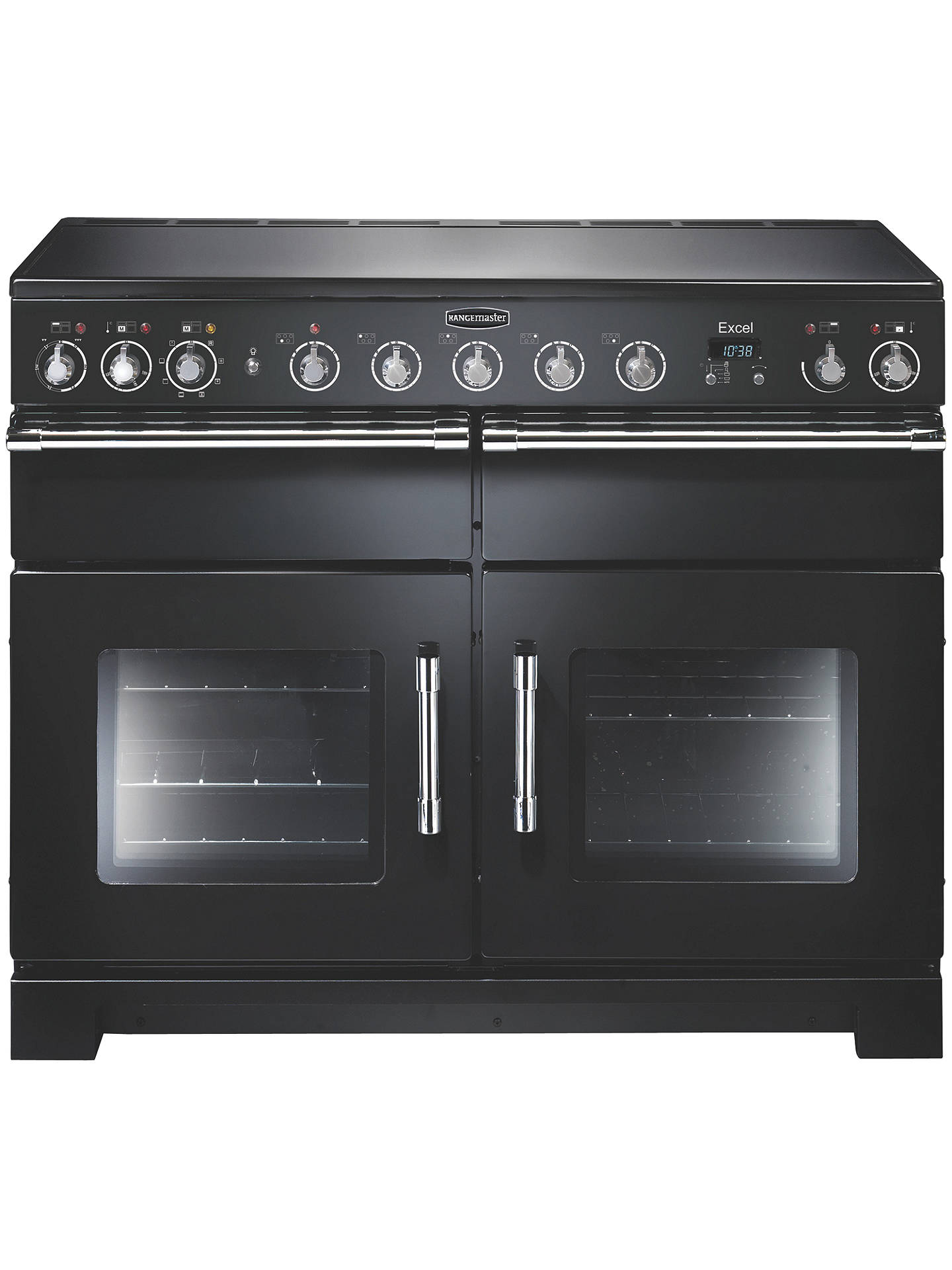 Rangemaster Excel 110 Electric Induction Range Cooker At John Lewis Wiring Zones Kitchen Buyrangemaster Black Chrome Trim Online Johnlewis