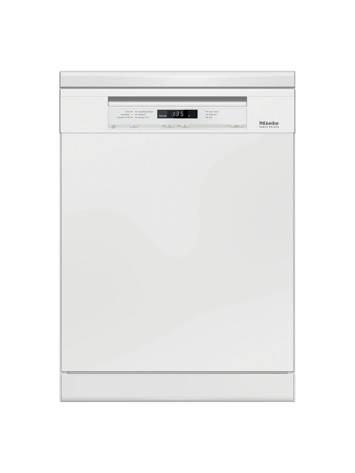BuyMiele G6620 BK Freestanding Dishwasher, White Online at johnlewis.com