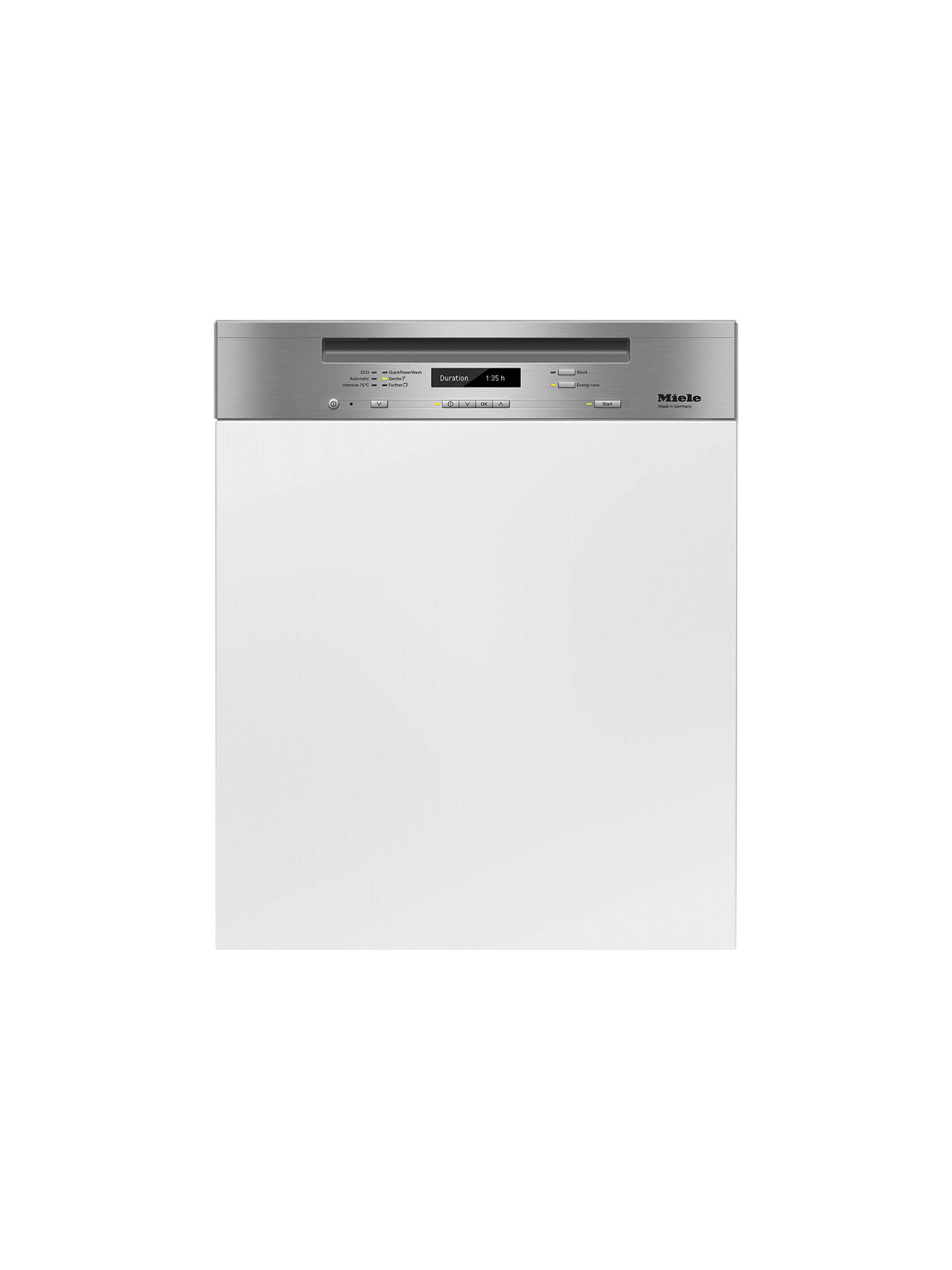BuyMiele G6730 SCi Semi-Integrated Dishwasher, Clean Steel Online at johnlewis.com