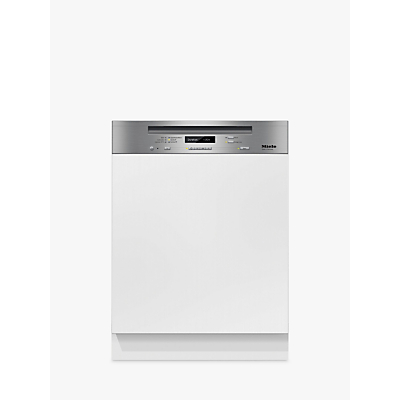 Image of Miele G6620 SCi Semi-Integrated Dishwasher, Clean Steel