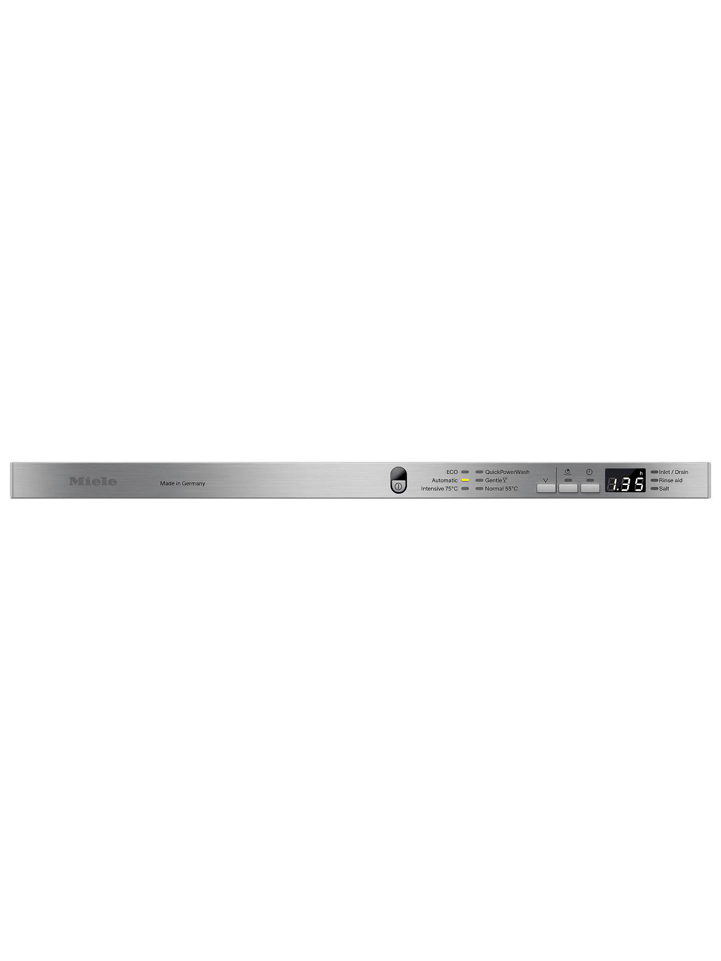Buy Miele G6665 SCVi XXL Integrated Dishwasher, Clean Steel Online at johnlewis.com