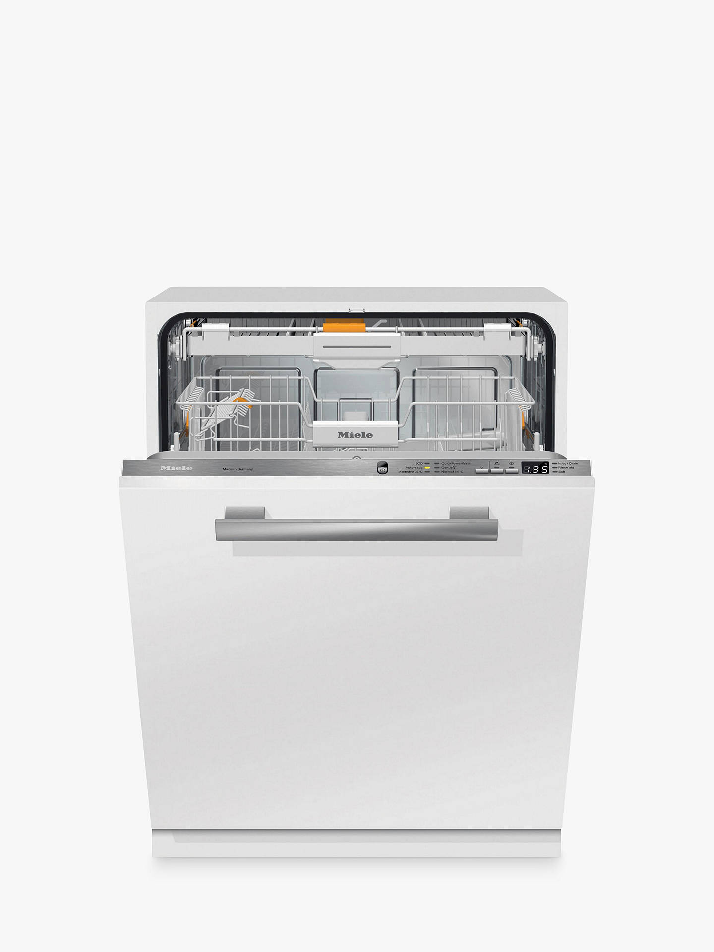Buy Miele G6660 SCVi Fully Integrated Dishwasher, Clean Steel Online at johnlewis.com