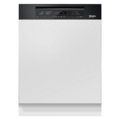Miele G6730 SCi Semi-Integrated Dishwasher, Obsidian Black