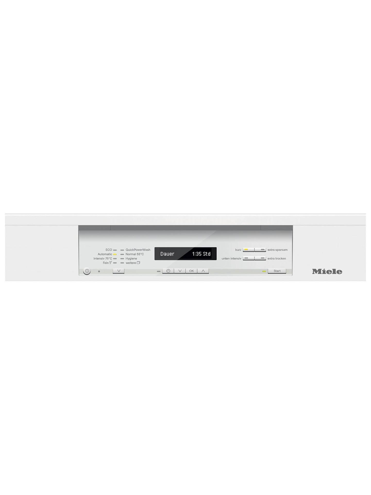 Miele G6820 SC Freestanding Dishwasher, White at John Lewis