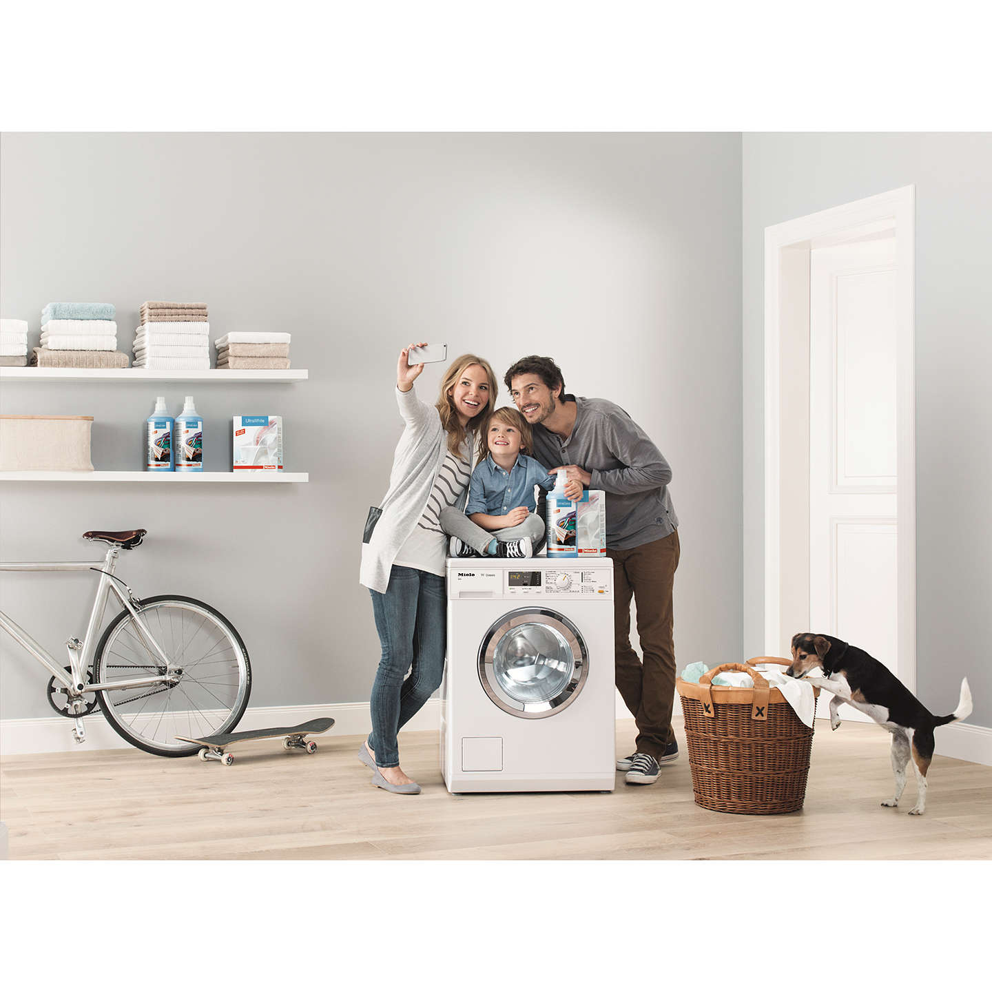 Miele Wda101 Washing Machine 7kg Load A Energy Rating 1400rpm Spin White At John Lewis