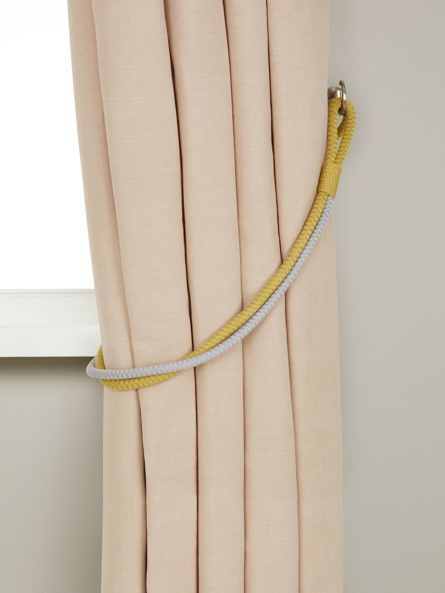 Buy John Lewis & Partners Scandi Rope Tieback, Fennel / Smoke Online at johnlewis.com