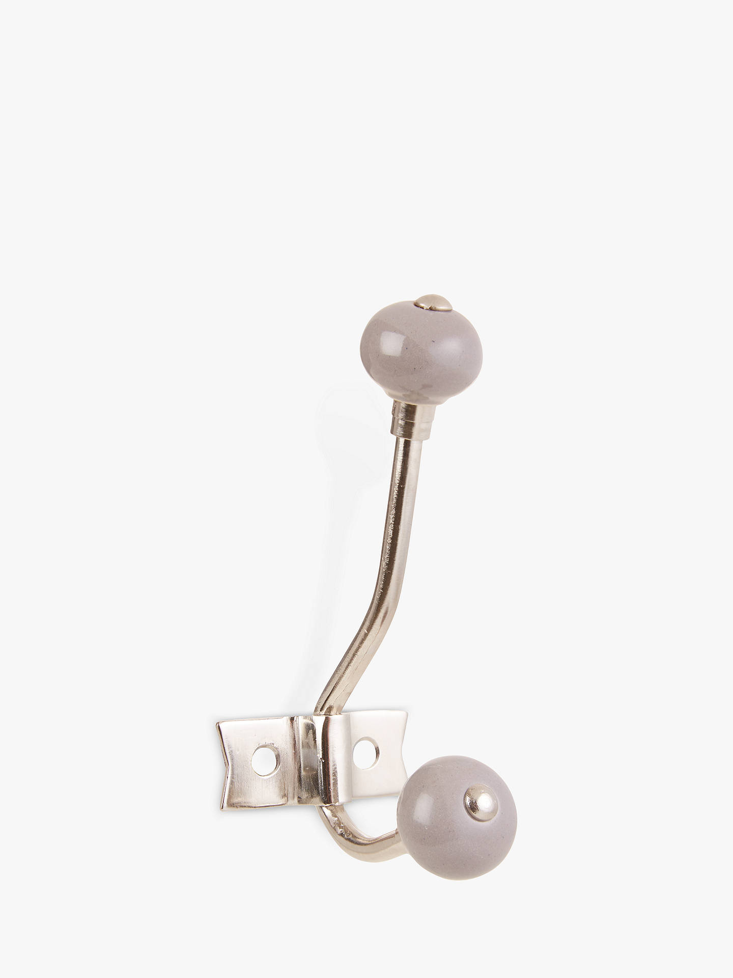 BuyJohn Lewis & Partners Ceramic Hat and Coat Hook, Grey Online at johnlewis.com