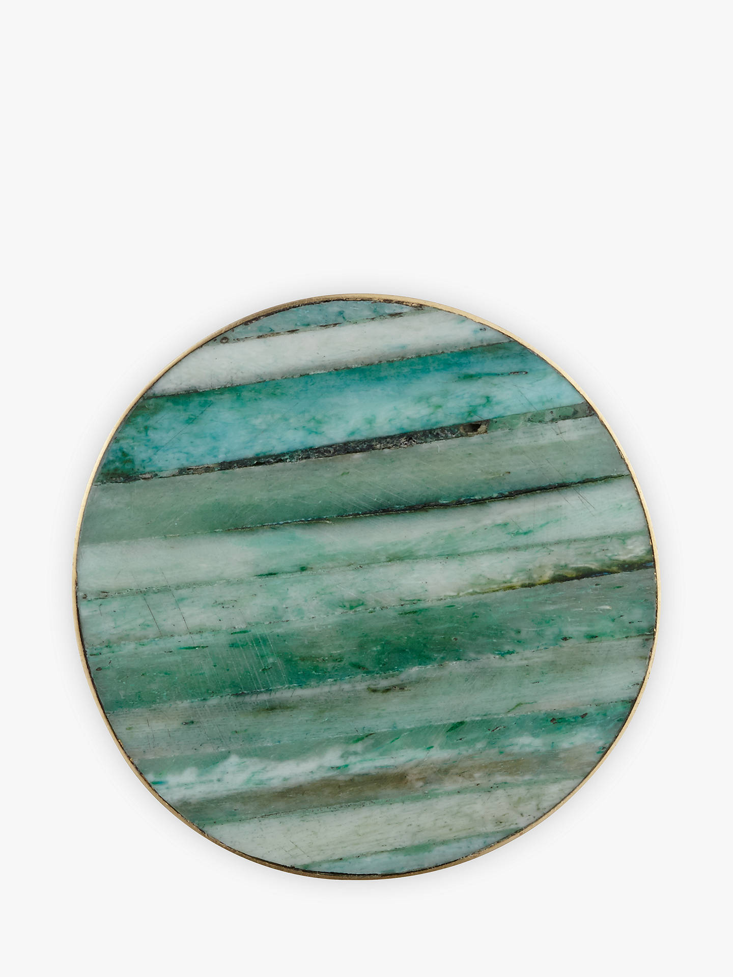 Buy John Lewis & Partners Striation Cupboard Knob, Green Online at johnlewis.com
