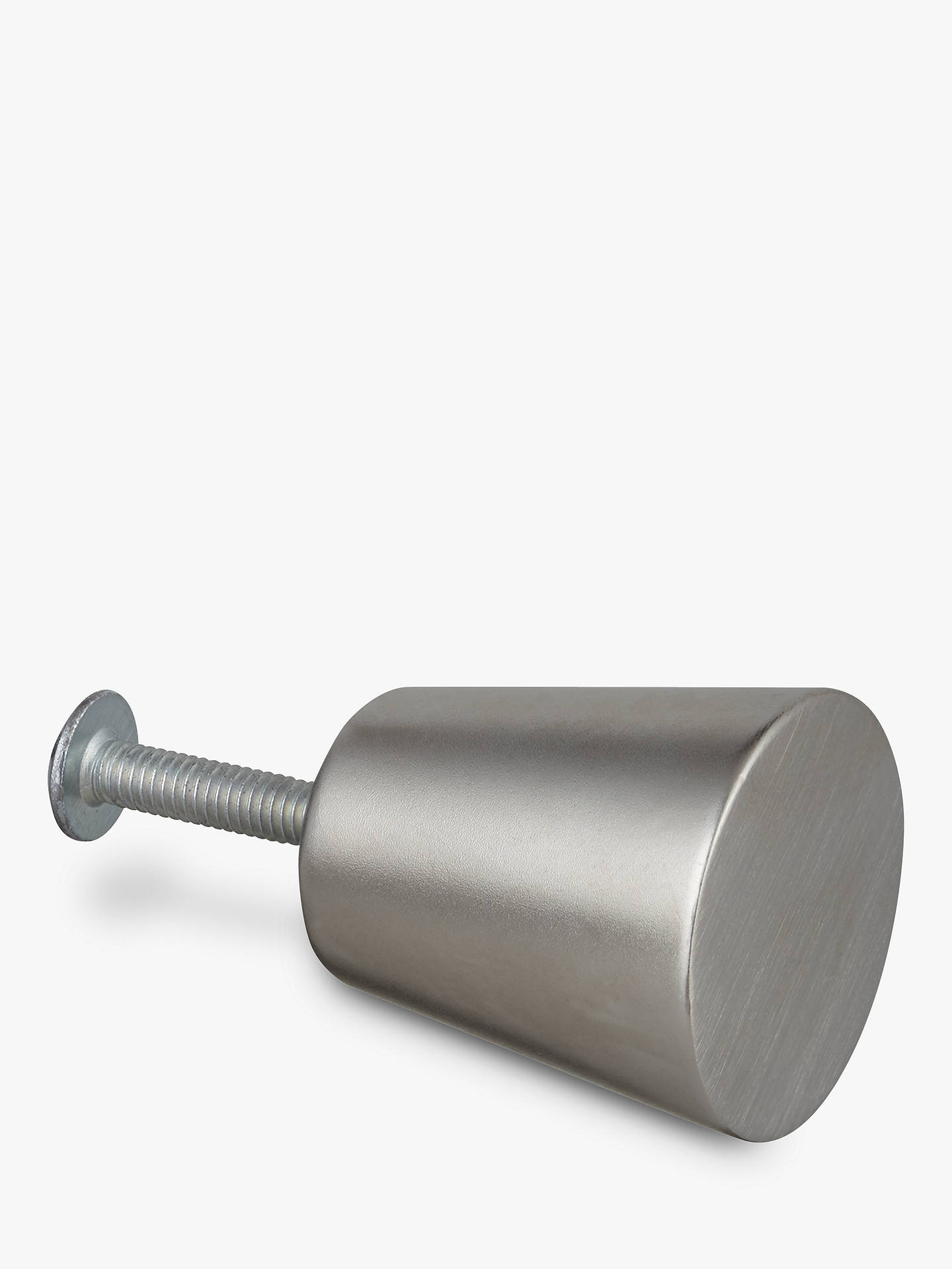 Buy Design Project by John Lewis No.072 Cupboard Knob, 25mm, Brushed Nickel Online at johnlewis.com