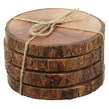 Buy John Lewis Croft Bark Coaster, Set of 4 Online at johnlewis.com