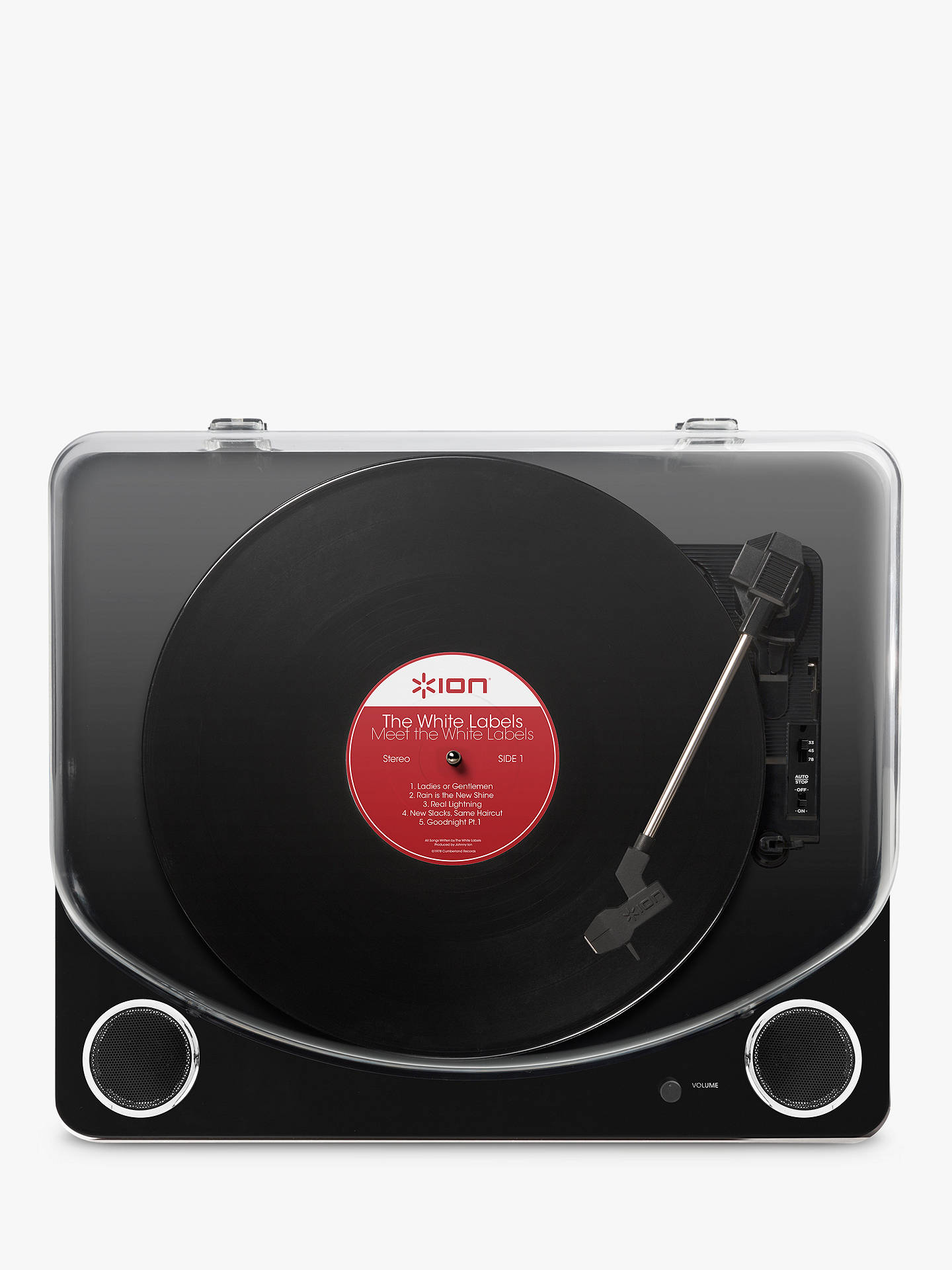 buy online 6980c 5635e ... BuyION Max LP Three-Speed USB Turntable With Built-In Stereo Speakers,  Piano ...