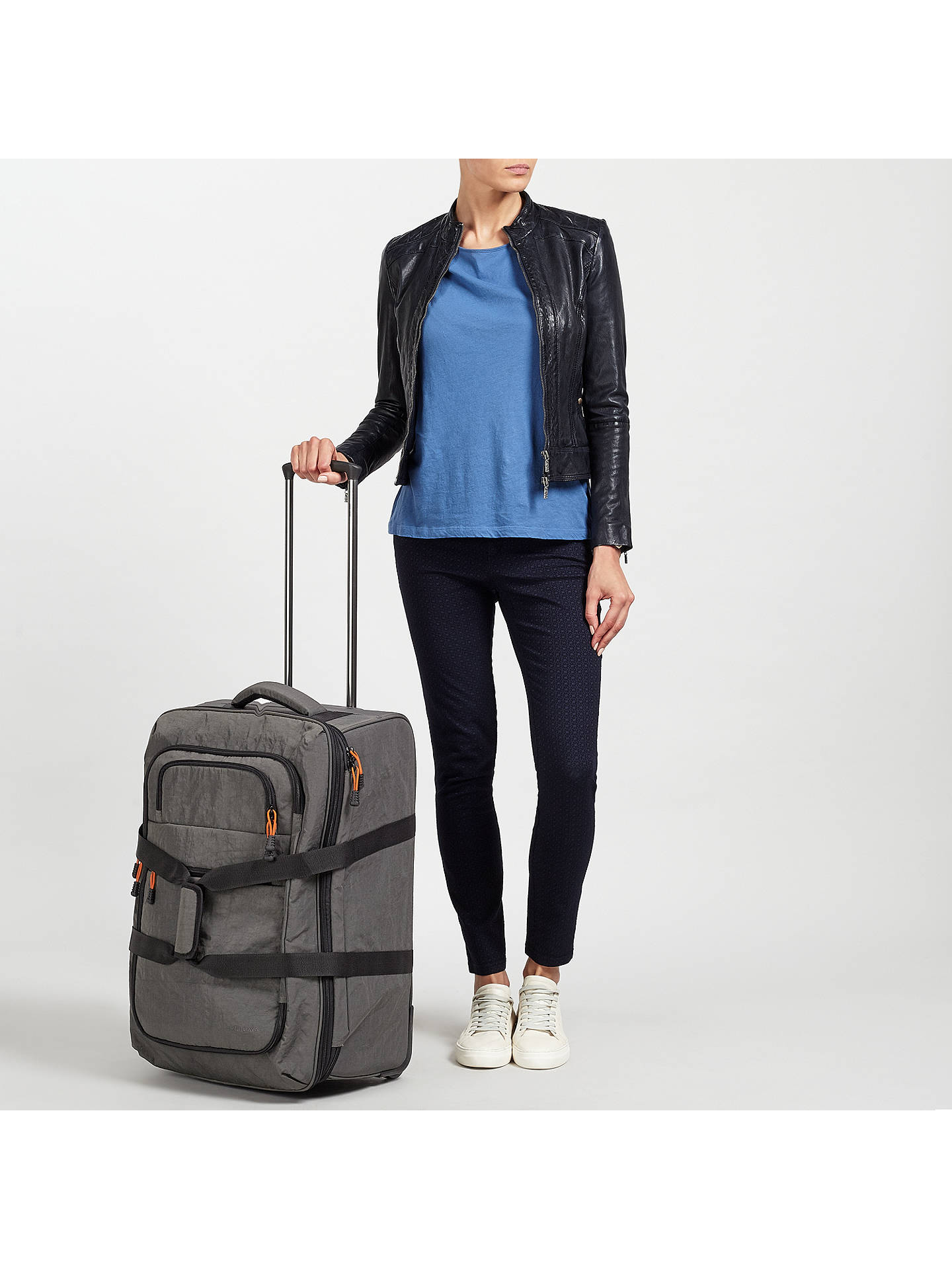 BuyJohn Lewis & Partners Trail 63cm Wheeled Duffle, Charcoal Online at johnlewis.com