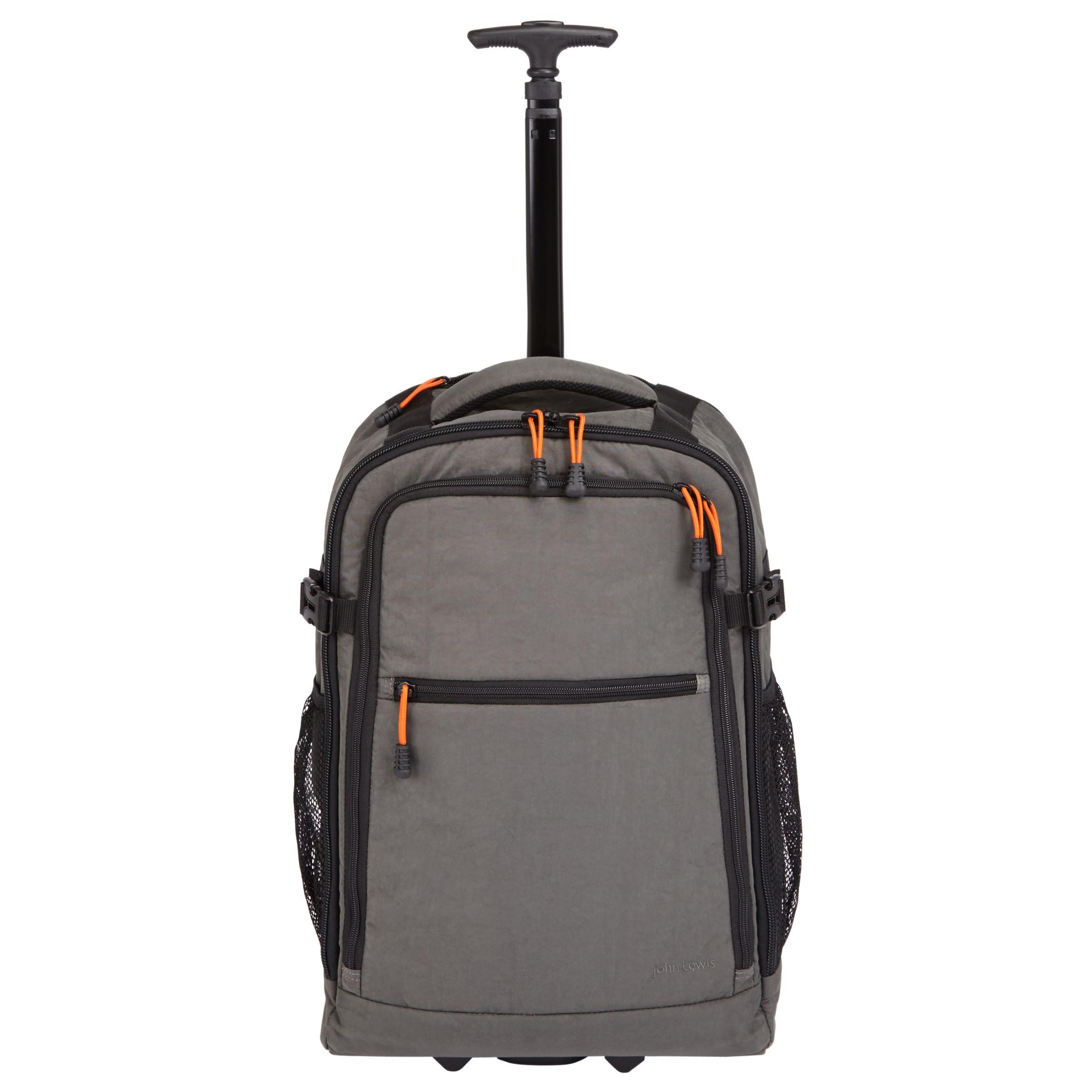 John Lewis   Partners Trail Wheelend Backpack Cabin Case, Charcoal at John  Lewis   Partners 3aa83bacc1