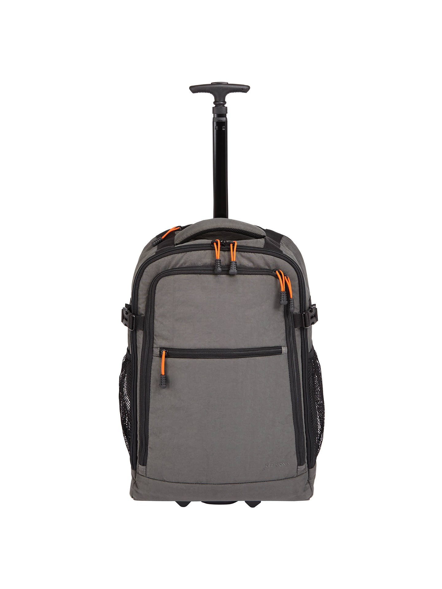d9f14fc33 Buy John Lewis & Partners Trail Wheelend Backpack Cabin Case, Charcoal  Online at johnlewis.