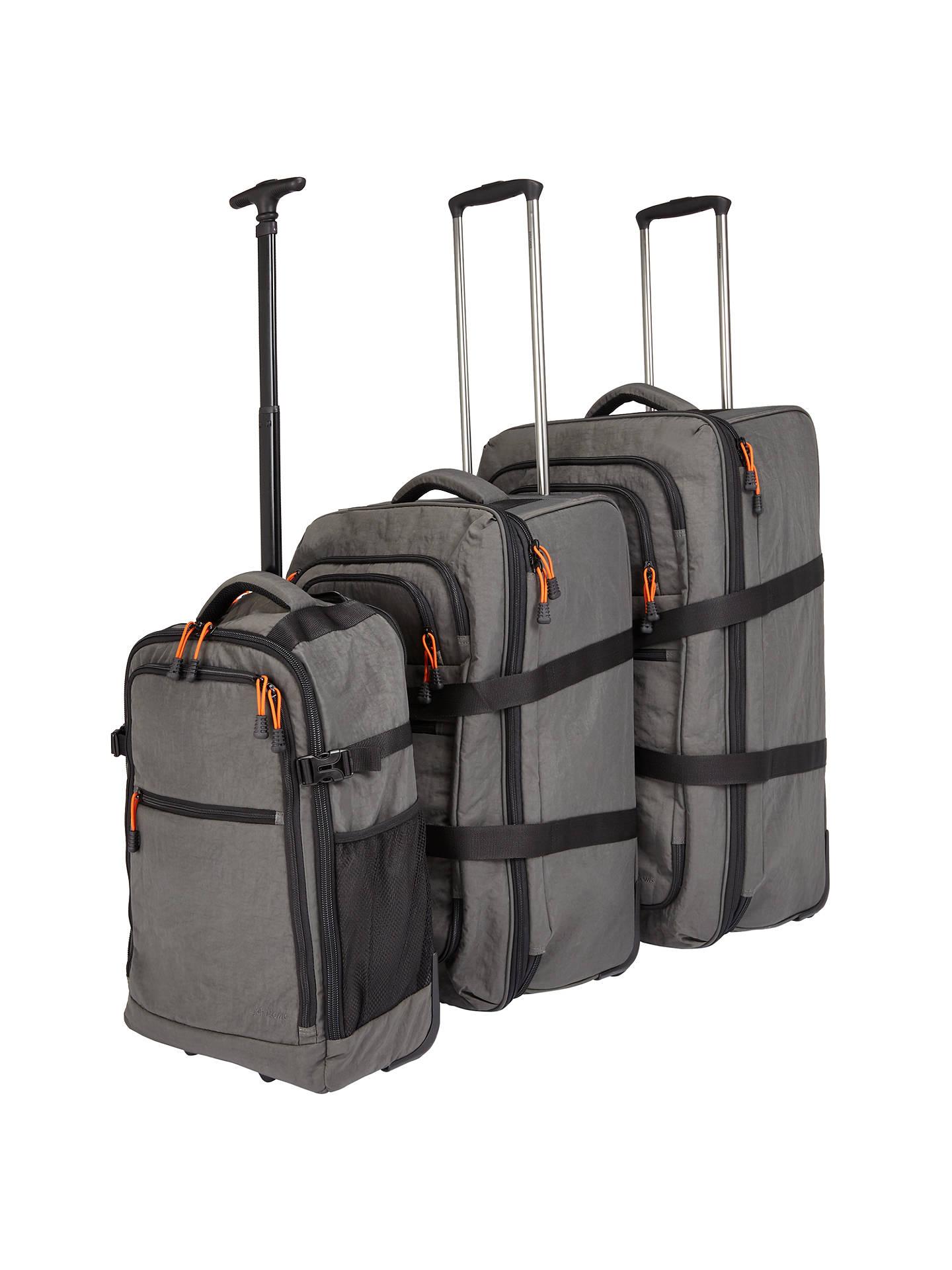 b4356490dffe John Lewis & Partners Trail Wheelend Backpack Cabin Case, Charcoal
