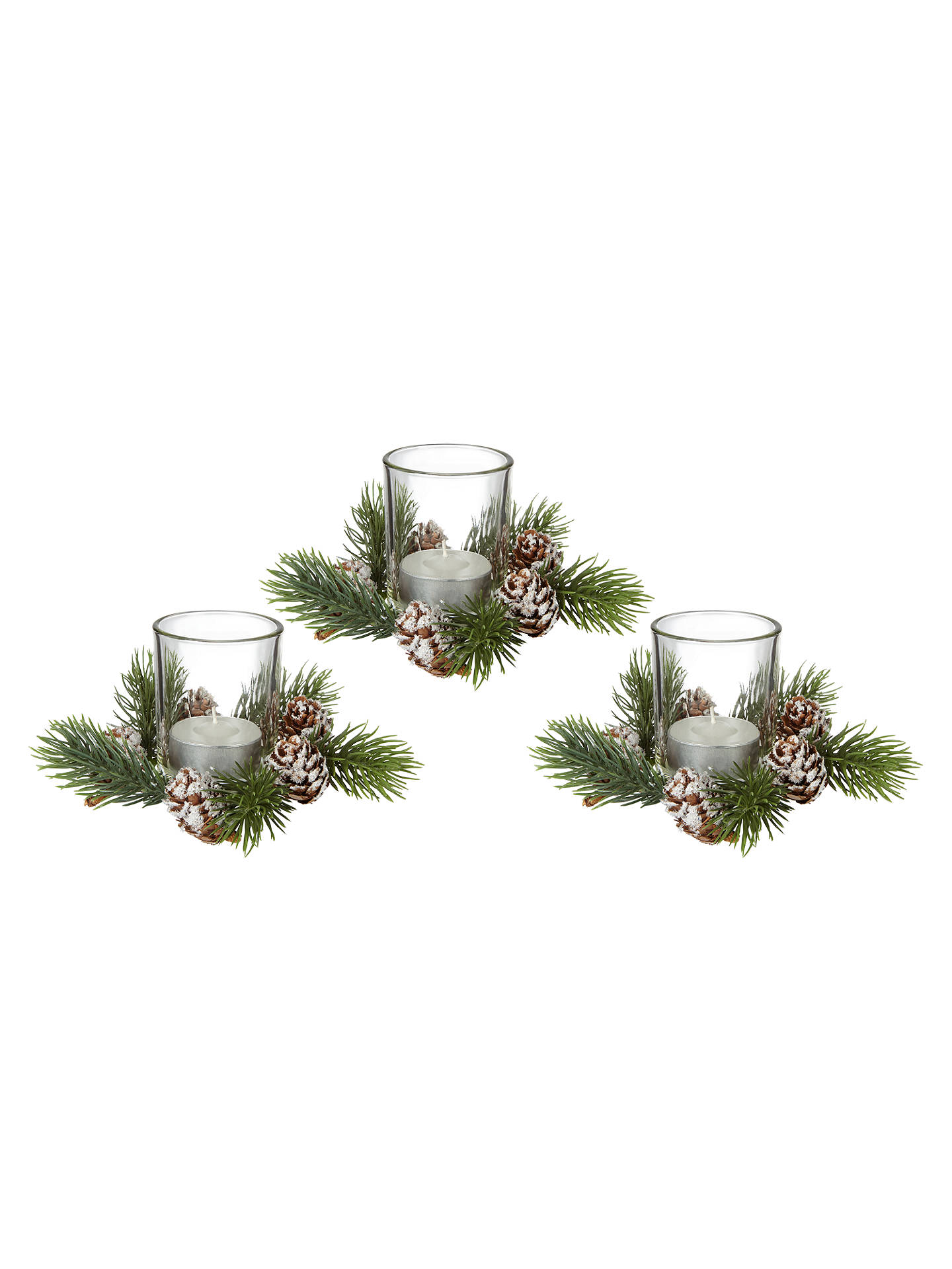 BuyJohn Lewis Ruskin House Pinecone Votives, Set of 3 Online at johnlewis.com