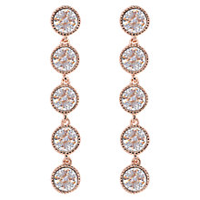 Buy Ted Baker Rizza Rivoli Crystal Long Drop Earrings, Rose Gold Online at johnlewis.com
