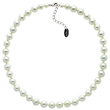 Buy Finesse Faux Glass Pearl Necklace, Nacre Online at johnlewis.com