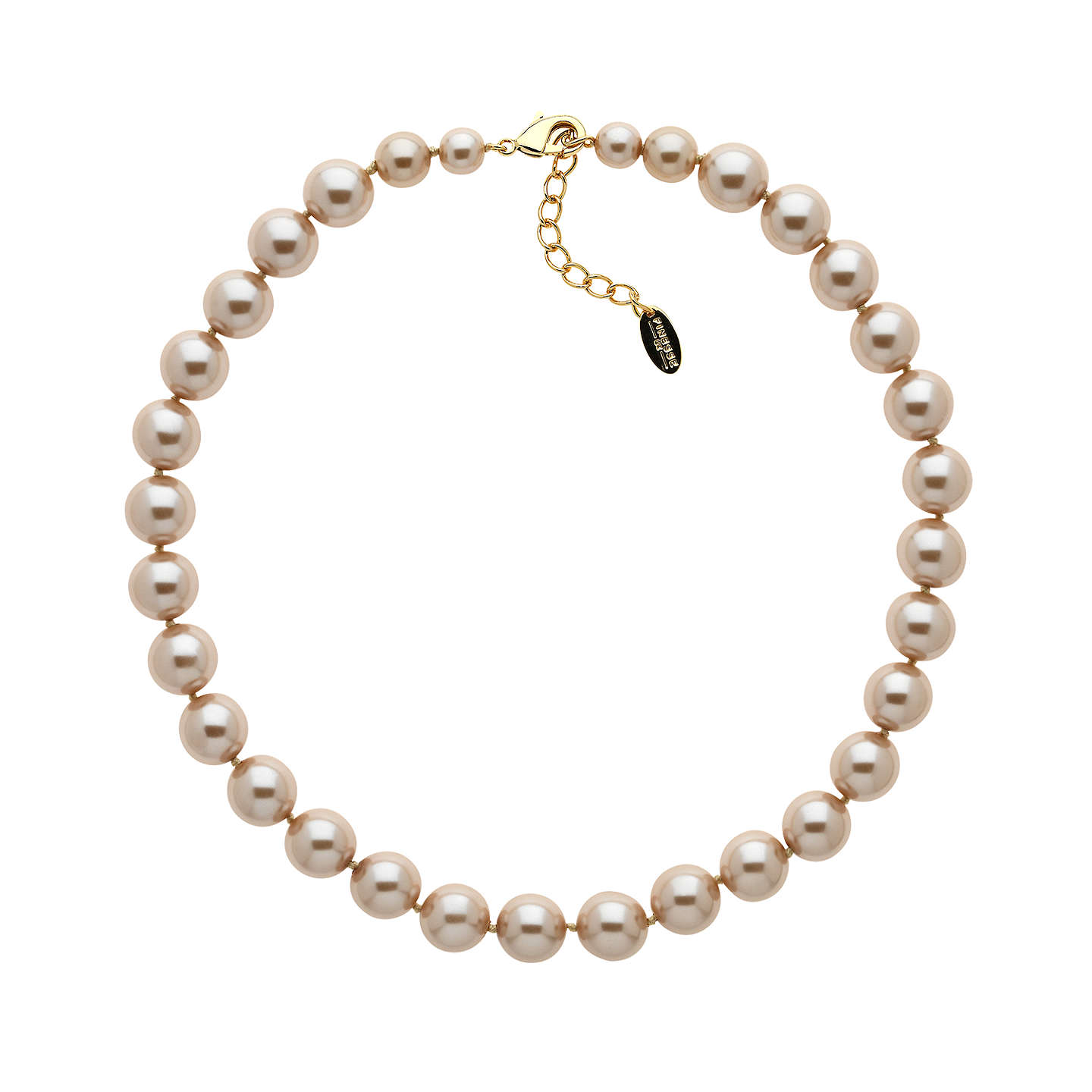 BuyFinesse Faux Pearl Necklace, Bronze Online at johnlewis.com
