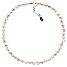 Buy Finesse Glass Faux Pearl Necklace, Blush Online at johnlewis.com