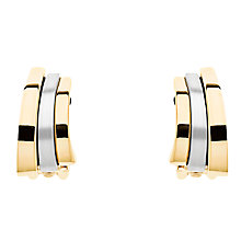 Buy Finesse Two Tone Arc Clip-On Earrings, Gold/Silver Online at johnlewis.com