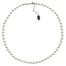 Buy Finesse Glass Faux Pearl Necklace, Nacre Online at johnlewis.com