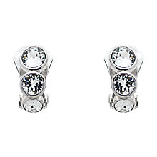 Buy Finesse Triple Swarovski Crystal Clip-On Earrings, Silver Online at johnlewis.com