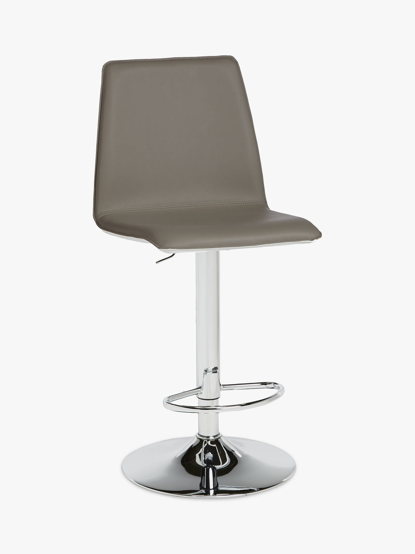 Buy John Lewis & Partners Xavier II Gas Lift Bar Chair, Taupe/Cream Online at johnlewis.com